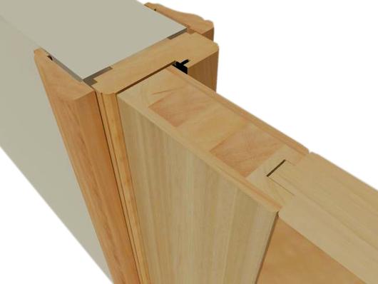Marcos y molduras de lenga de ignisterra for Marco puerta madera
